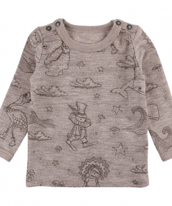 Small Rags genser med skrift Vesle Hjertetyv